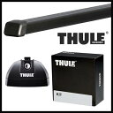 THULE スーリー ポルシェ 911 996/997 98〜 ルーフキャリア取付1台分セット TH753+TH7122+TH3100セット