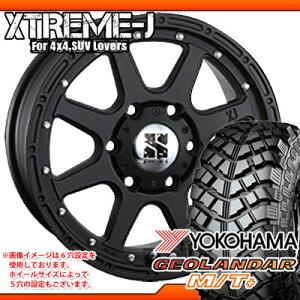 サマータイヤ 225/75R16 103/100S ヨコハマ ジオランダー M/T+ G001C ブラックレター & MLJ エクストリームJ 7.0-16 タイヤホイール4本セット