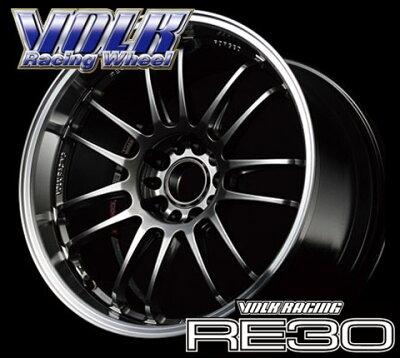 【RAYS レイズ】VOLK RACING RE30 9.5-18 フォーミュラシルバー+ダイヤモンドカットリム ホイー...