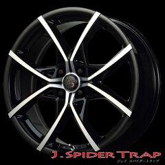 【エントリーで最大23倍!12/13 9:59迄】 エムズスピード ジェイ スパイダートラップ 6.5-17 ホイール1本 J.SPIDER TRAP