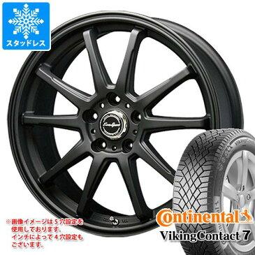 スタッドレスタイヤ コンチネンタル バイキングコンタクト7 245/45R18 100T XL & ブレスト ユーロスポーツ タイプSS-01 8.0-18 タイヤホイール4本セット 245/45-18 CONTINENTAL VikingContact 7