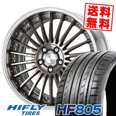 215/35R18 84W XL HIFLY ハイフライ HF805 HF805 WORK LANVEC LF1 ワーク ランベック エルエフワン サマータイヤホイール4本セット【取付対象】