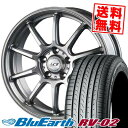 235/65R18 106V YOKOHAMA ヨコハマ BLUE EARTH RV02 ブルーアース RV-02 LCZ010 LCZ010 サマータイヤホイール4本セット