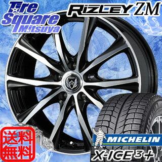 ミシュラン X-ICE XI3+ スリープラス エックスアイス スタッドレスタイヤ 215/60R16WEDS ウェッズ RIZLEY ライツレー ZM ホイール 4本セット 16インチ 16 X 6.5 +47 5穴 114.3