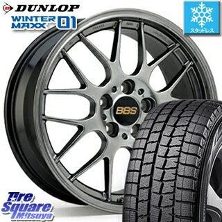 タイヤ・ホイール, スタッドレスタイヤ・ホイールセット DUNLOP WINTER MAXX 01 WM01 22545R18 BBS RG-R 1 4 18 18 X 7.5 45 5 100