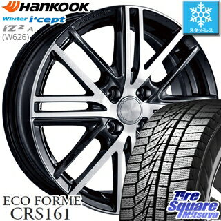 HANKOOK WINTER ICEPT W626 2018年製造品 在庫 スタッドレス スタッドレスタイヤ 165/70R14 ブリヂストン ECOFORME エコフォルム CRS 161 ホイールセット 4本 14インチ 14 X 5.5 +42 4穴 100