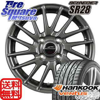 HANKOOK ハンコック ventusV12evo2 ベンタス K120 サマータイヤ 185/55R15MANARAY SCHNEIDER SR28 ホイール 4本セット 15インチ 15 X 5.5 +42 4穴 100