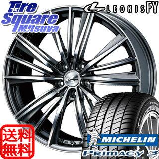 ミシュラン PRIMACY プライマシー 3 サマータイヤ 215/55R17WEDS ウェッズ Leonis レオニス FY ホイール 4本セット 17インチ 17 X 6.5 +53 5穴 114.3