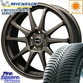 ミシュラン CROSSCLIMATE クロスクライメイト + 正規品 オールシーズンタイヤ 225/45R17 BLEST Eurosport TypeSS-01 ホイールセット 4本 17インチ 17 X 7 +45 5穴 100