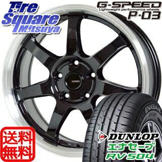 DUNLOP ダンロップ エナセーブ RV504 ENASAVE ミニバン サマータイヤ 215/60R16HotStuff 軽量設計!G.speed P-03 ホイール 4本セット 16インチ 16 X 6.5 +48 5穴 114.3