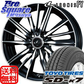 TOYOTIRES トーヨー タイヤ SD-K7 サマータイヤ 165/50R15WEDS ウェッズ Leonis レオニス FY ホイール 4本セット 15インチ 15 X 4.5 +45 4穴 100