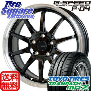 TOYOTIRES トーヨー トランパス MPZ ミニバン TRANPATH サマータイヤ 195/65R15 HotStuff 軽量設計!G.speed P-04 ホイールセット 4本 15インチ 15 X 6 +43 5穴 114.3