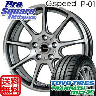 TOYOTIRES トーヨー トランパス MPZ ミニバン TRANPATH サマータイヤ 215/70R16 HotStuff 軽量設計!G.speed P-01 ホイールセット 4本 16インチ 16 X 6.5 +48 5穴 114.3