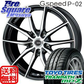 TOYOTIRES トーヨー トランパス MPZ ミニバン TRANPATH サマータイヤ 225/55R18HotStuff 軽量設計!G.speed P-02 ホイール 4本セット 18インチ 18 X 7.5 +55 5穴 114.3