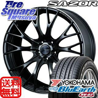 YOKOHAMA ヨコハマ ブルーアース RV-02 ミニバン サマータイヤ 245/35R20WEDS WedsSport ウェッズ スポーツ SA-20R ホイール 4本セット 20インチ 20 X 8.5 +45 5穴 114.3