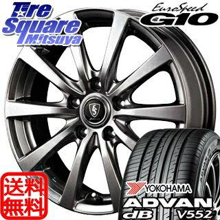 YOKOHAMA ヨコハマ アドバン デシベル V552 dB サマータイヤ 195/65R15 MANARAY EUROSPEED G10 平座仕様(トヨタ車専用) ホイールセット 4本 15インチ 15 X 6 +45 5穴 100