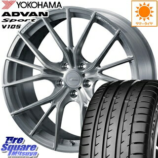 YOKOHAMA ADVAN sport V105 MO サマータイヤ 225/45R18 WEDS F ZERO FZ-1 鍛造 FORGED ホイールセット 4本 18 X 7.5 +38 5穴 114.3