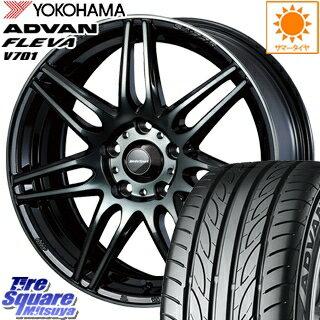 タイヤ・ホイール, サマータイヤ・ホイールセット YOKOHAMA ADVAN FLEVA V701 21540R18 WEDS 73507 SA-77R 18 18 X 8.5J 45 5 100