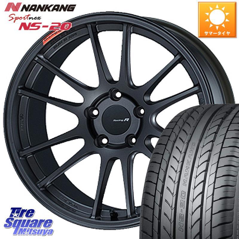 タイヤ・ホイール, サマータイヤ・ホイールセット 35SALE P371000 ENKEI Racing Revolution GTC01RR 18 X 8.5J 42 5 114.3 NANKANG TIRE NS-20 NS20 22555R18