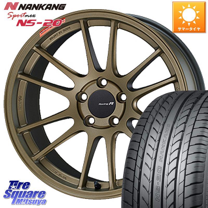 タイヤ・ホイール, サマータイヤ・ホイールセット 35SALE P371000 ENKEI Racing Revolution GTC01RR 18 X 8.5J 35 5 114.3 NANKANG TIRE NS-20 NS20 22555R18