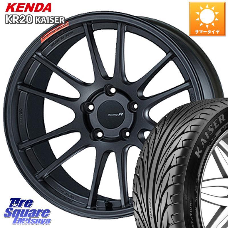 タイヤ・ホイール, サマータイヤ・ホイールセット  ENKEI Racing Revolution GTC01RR 18 X 8.0J 45 5 114.3 KENDA KAISER KR20 22540R18