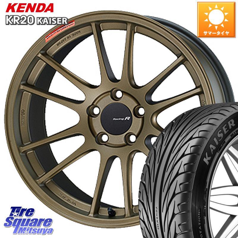 タイヤ・ホイール, サマータイヤ・ホイールセット 35SALE P371000 ENKEI Racing Revolution GTC01RR 18 X 8.5J 42 5 114.3 KENDA KAISER KR20 22540R18