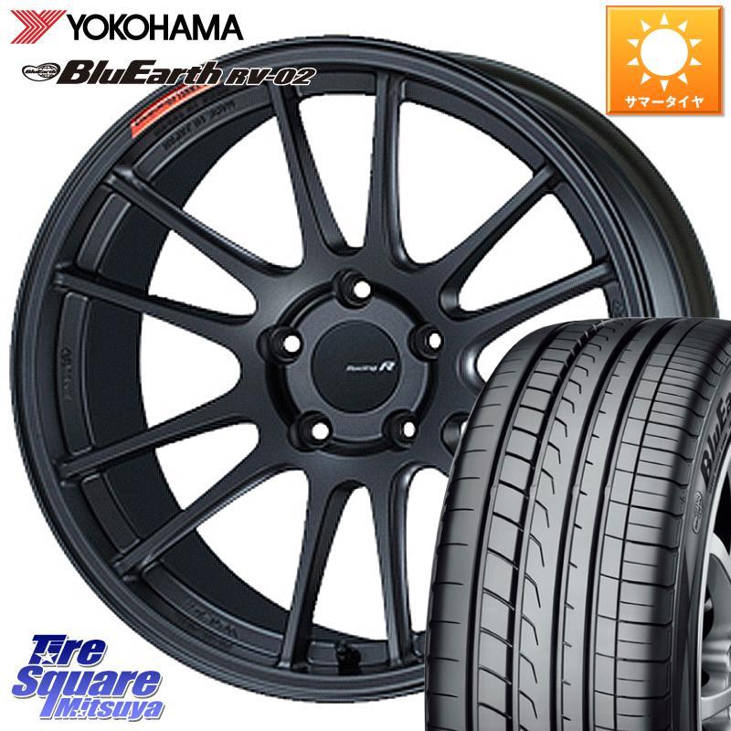 タイヤ・ホイール, サマータイヤ・ホイールセット 112035 ENKEI Racing Revolution GTC01RR 18 X 7.5J 45 5 100 YOKOHAMA RV-02 22555R18