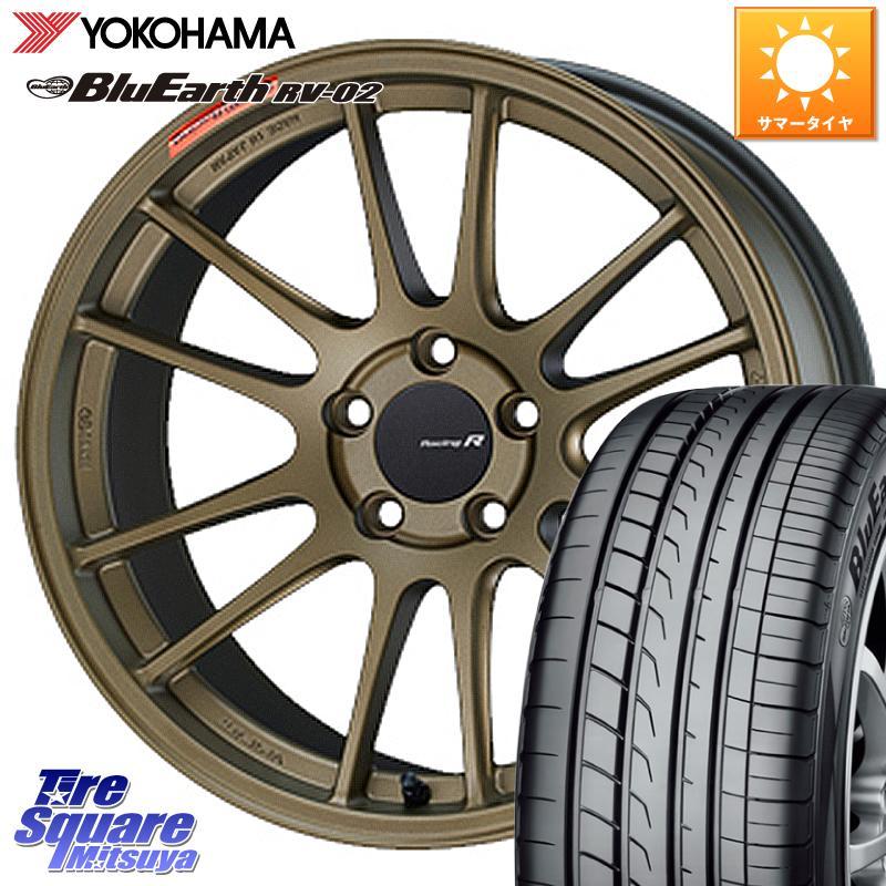 タイヤ・ホイール, サマータイヤ・ホイールセット 112035 CX-5 ENKEI Racing Revolution GTC01RR 18 X 7.5J 45 5 114.3 YOKOHAMA RV-02 23555R18