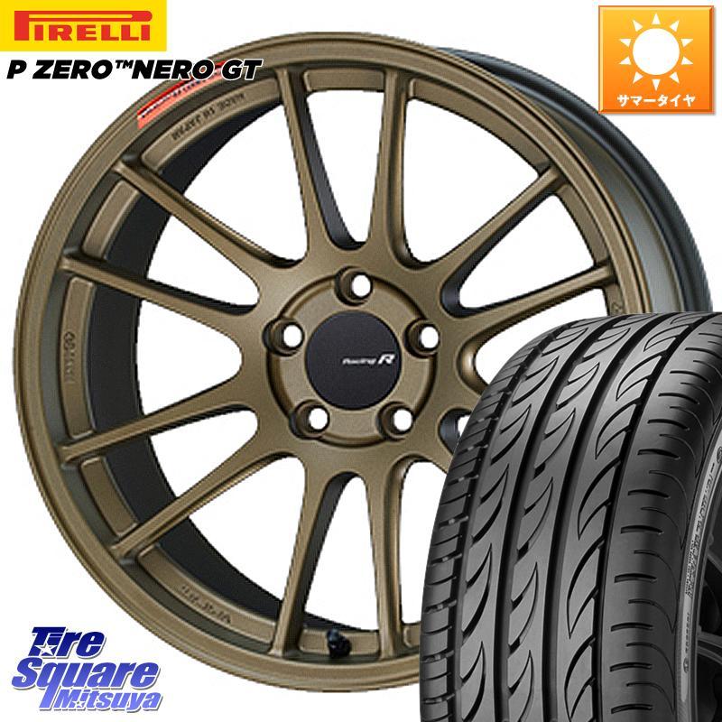 タイヤ・ホイール, サマータイヤ・ホイールセット 52024.51000 ENKEI Racing Revolution GTC01RR 18 X 8.5J 42 5 114.3 PZERO NERO GT 97Y XL 24540R18