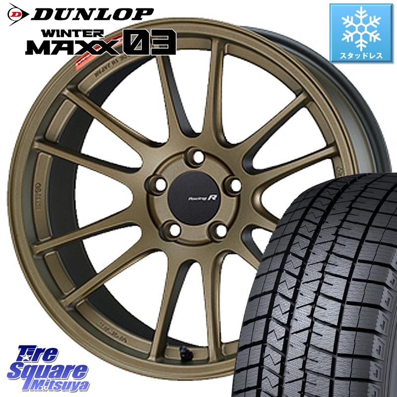 タイヤ・ホイール, スタッドレスタイヤ・ホイールセット 52024.51000 DUNLOP 03 WM03 24545R18 ENKEI Racing Revolution GTC01RR 18 X 7.5J 45 5 114.3
