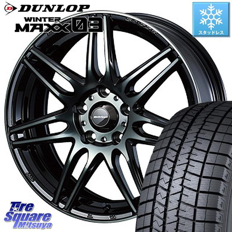 タイヤ・ホイール, スタッドレスタイヤ・ホイールセット  DUNLOP WINTER MAXX 03 WM03 23545R18 WEDS 73509 SA-77R 18 18 X 8.5J 50 5 114.3