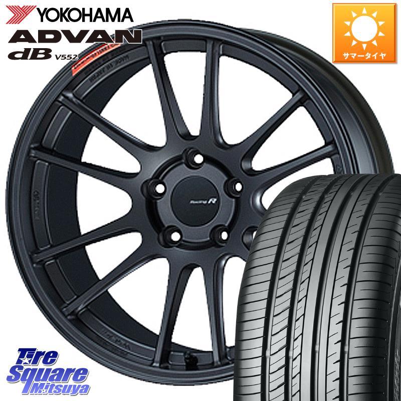タイヤ・ホイールセット, サマータイヤ・ホイールセット 1020245 ENKEI Racing Revolution GTC01RR 18 X 8.5J 42 5 114.3 YOKOHAMA ADVAN dB V552 23550R18