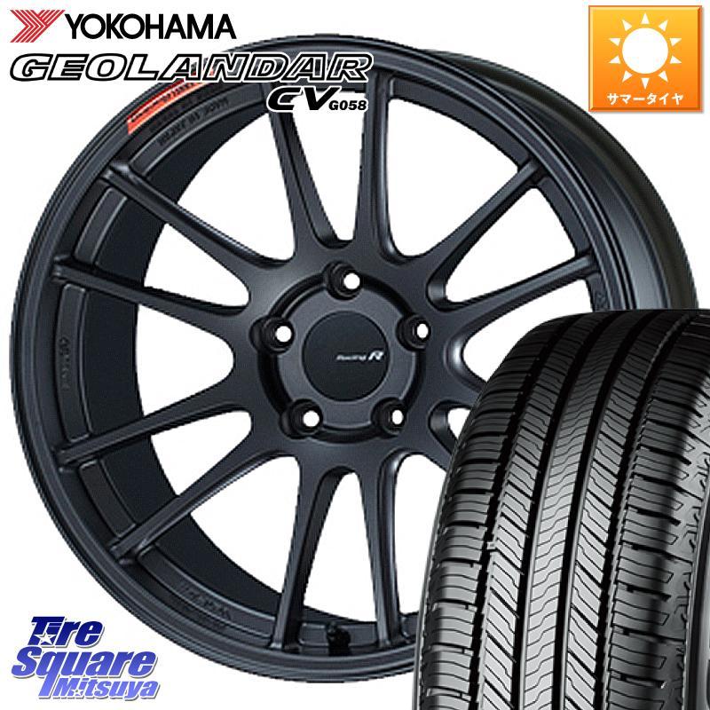 タイヤ・ホイールセット, サマータイヤ・ホイールセット 1020245 NX ENKEI Racing Revolution GTC01RR 18 X 8.5J 42 5 114.3 YOKOHAMA GEOLANDAR CV G058 22560R18