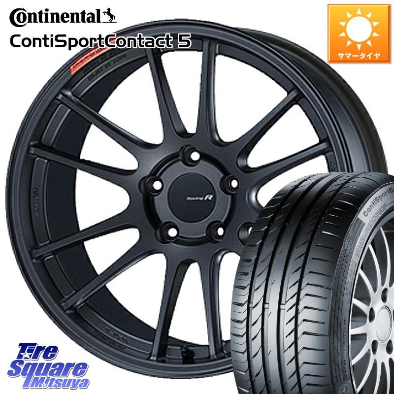 タイヤ・ホイールセット, サマータイヤ・ホイールセット 1020245 ENKEI Racing Revolution GTC01RR 18 X 8.5J 42 5 114.3 ContiSportContact5 5 97Y XL AO 24540R18