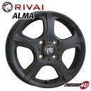 15x6.0J 5/100 +43XB(マットブラック) 新品 15インチ ALMA インプレッサ/プリウス/ウィッシュ/カルディナ/プレミオ/アルデオなど アルミホイール単品RIVAI 新品アルミホイール単品1本価格 JWL