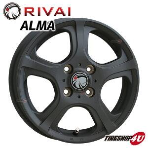 新品 14インチ ALMA  14x4.5J 4/100 +45XB(マットブラック) ワゴンR/ムーブ/タント/デイズ/N-BOX/N-WGN/EKワゴンなど 軽自動車各種 アルミホイール単品新商品 RIVAI 新品アルミホイール単品1本価格 JWL