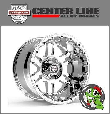 17インチラングラー/ダッジ ラム/シルバラード/タンドラ/F-150/FJクルーザー CENTER LINE(センターライン) LT1 C 17×9.0J ET18 Chrome厳選M/Tタイヤ 295/70R17(33×12.50R17) 新品タイヤホイールセット4本価格 ※要リフトアップ