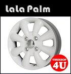 15インチLaLa Palm KC-8 15×5.0J 4/100 +45ホワイト ララパーム KC8 軽自動車 新品アルミホイール1本価格 ※Newソリオ、デリカD;2対応