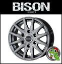 15インチ ホイール単品 BISON BN-01 15x6.0 6/139.7 44 ダークシルバー...