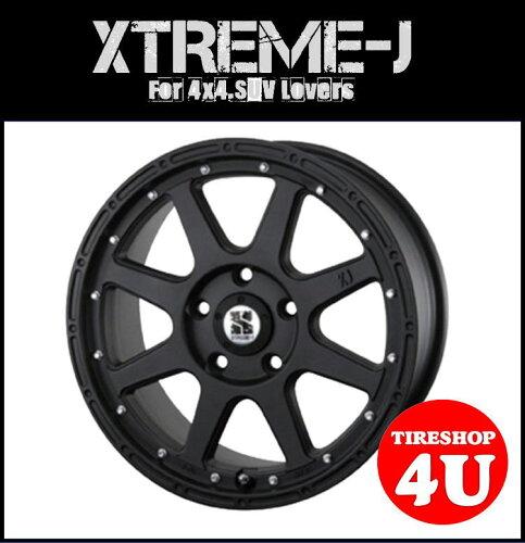 エクストリームJ XTREME-J 1670 16x7.0 5/114.3 35HAB:φ73.1 マットブラック 艶無し黒 デリカ D:...