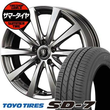 205/60R16 92H TOYO TIRES トーヨー タイヤ SD-7 エスディーセブン Euro Speed G10 ユーロスピード G10 サマータイヤホイール4本セット