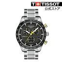 22909a26ef ... TISSOT 腕時計 ティソ 公式 メンズ ピーアールエス516 ブラック文字盤 ブレスレット