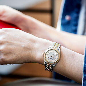 TISSOT腕時計ティソ公式レディースバラードオートマティックCOSCパワーマティック80ホワイトマザーオブパール文字盤ブレスレット【BalladeAutomatic時計ウォッチ自動巻女性華奢レディースウォッチオフィスボーナス】