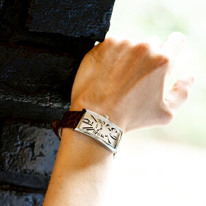 TISSOT腕時計ティソ公式メンズ&レディースヘリテージバナナクォーツシルバー文字盤ブラウンレザー【BANANAバナナウォッチスクエア女性電池式スイスウォッチスイス製ギフトプレゼントボーナス】