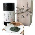 京都舞妓の茶本舗笑門来福しあわせ茶(抹茶・昆布入玄米茶)80g缶入(透明箱入)