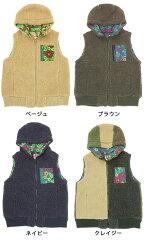 オイルクロスパッチボアベスト/EWC-BA-001【エスニックファッション】
