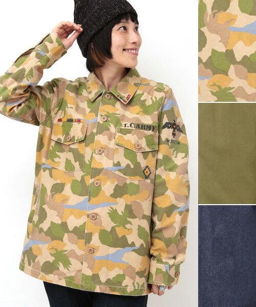 スケッチミリタリー シャツジャケット