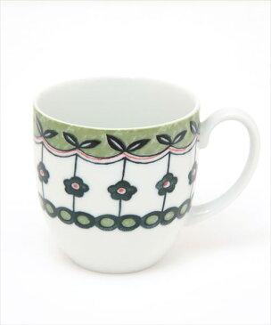 【30%OFF】 磁器製 美濃焼 テーブルウェア 花柄 ラインフラワー マグカップ 食器/チチカカ公式 TITICACA エスニック アジアン