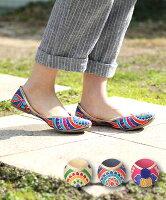インド刺繍パンプス