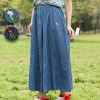 5.5ozデニムロングスカート